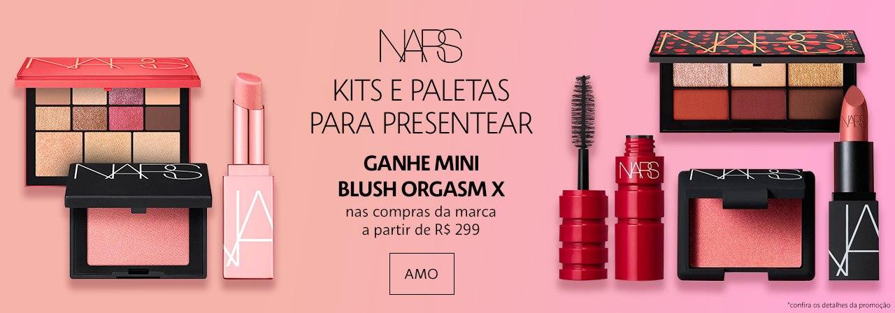 NARS - Ganhe mini Blush Orgasm nas compras da marca a partir de duzentos e noventa e nove reais.