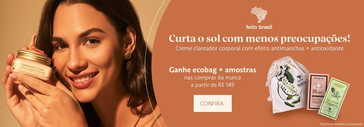 Feito Brasil - Ganhe ecobag mais amostras nas compras da marca a partir de cento e quarenta e nove reais.