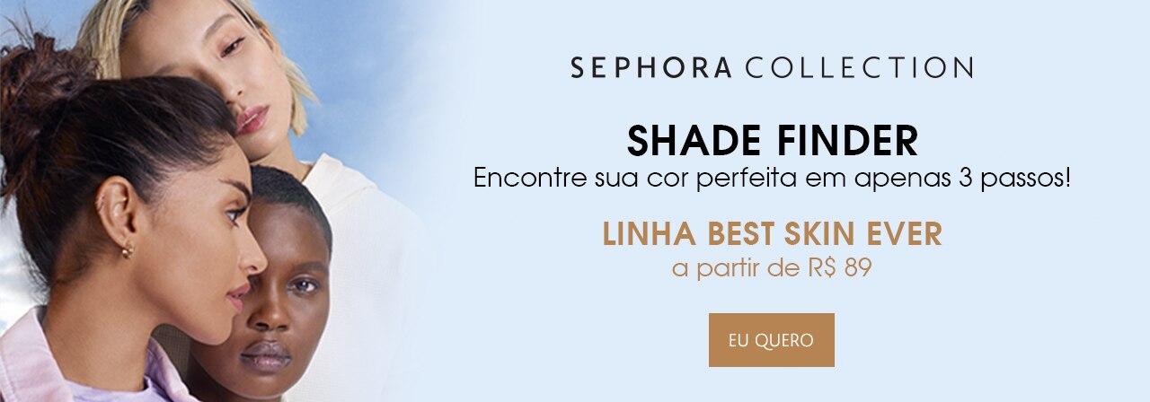 Shade Finder Sephora Collection. Encontre sua cor perfeita em apenas três passos.
