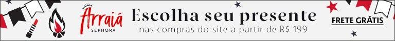Sephora. Escolha seu presente nas compras do site a partir de cento e noventa e nove reais.
