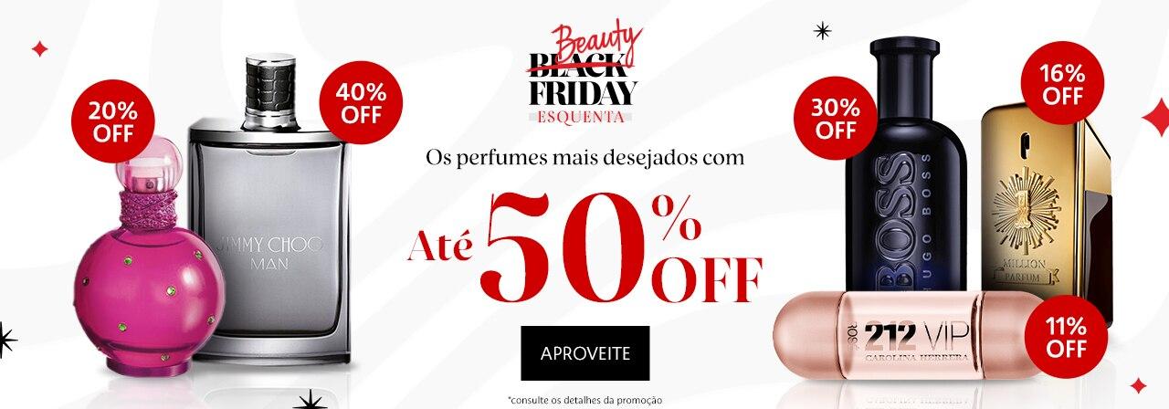 Esquenta Beauty Friday. Os perfumes mais desejados com até cinquenta por cento de desconto
