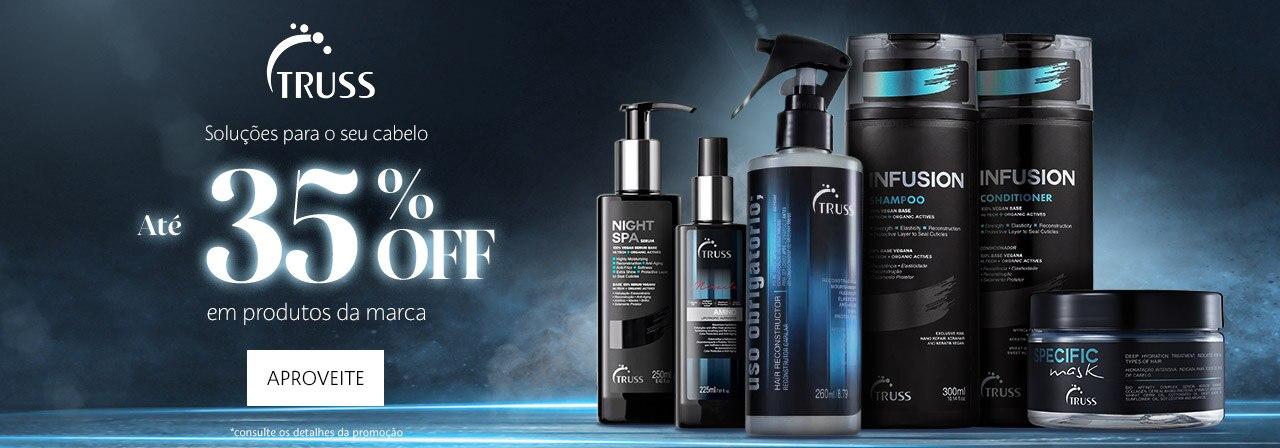 Truss. Soluções para o seu cabelo até trinta e cinco por cento OFFem produtos da marca