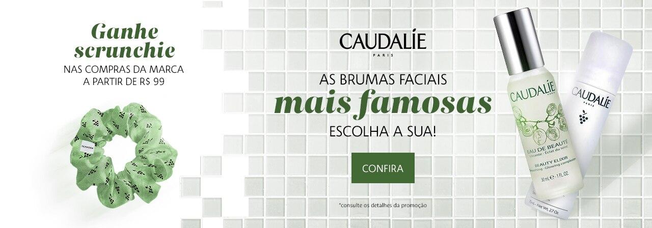 Caudalie - Ganhe scrunchie nas compras da marca a partir de noventa e nove reais.